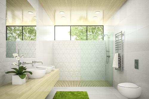 badezimmer gruen