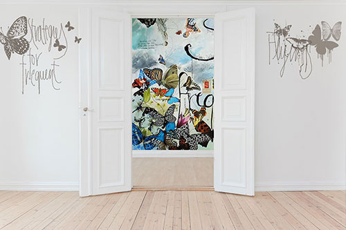 wallpainting door